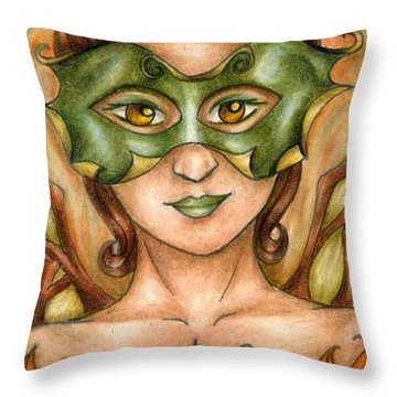 Autumn Tree Sprite Art Throw Pillow
