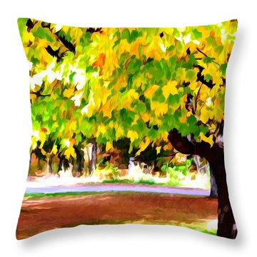 Autumn Trees 6 Throw Pillow by Lanjee Chee