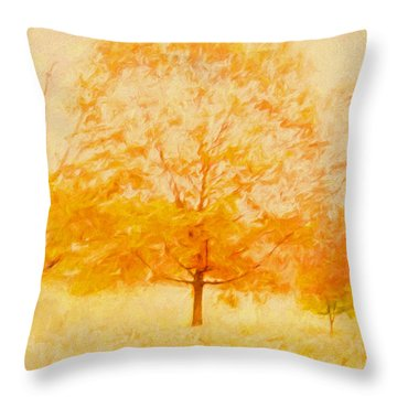Autumn Trees Abstract Throw Pillow