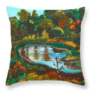 Autumn Trees In Virginia Throw Pillow