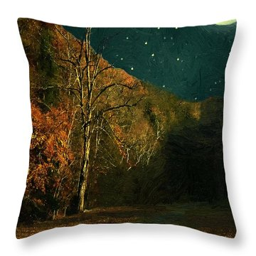 Autumn Tunnel Throw Pillow
