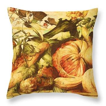 Autumn Vegetable Harvest  Throw Pillow