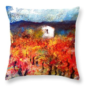 Autumn Vineyard Throw Pillow