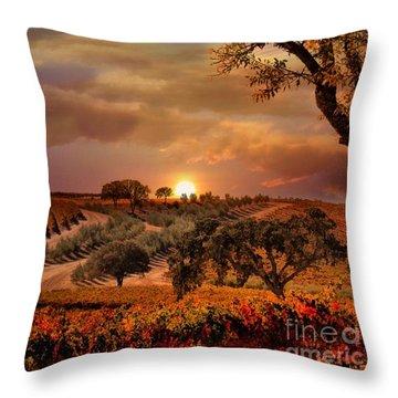 Autumn Vineyard Throw Pillow by Stephanie Laird