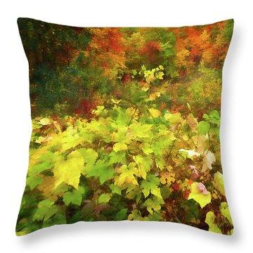 Autumn Watercolor Throw Pillow
