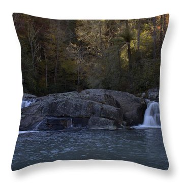 Throw Pillow featuring the photograph Autumn Waterfall  by Ellen Heaverlo