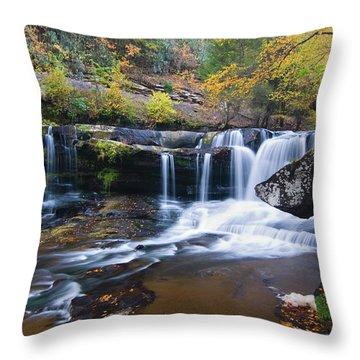 Throw Pillow featuring the photograph Autumn Waterfall by Steve Stuller
