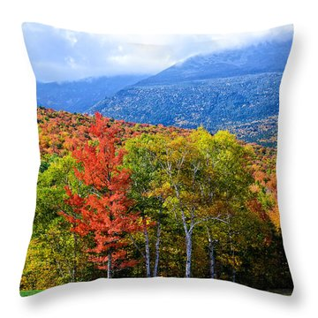 Throw Pillow featuring the photograph Autumn White Mountains Nh by Michael Hubley