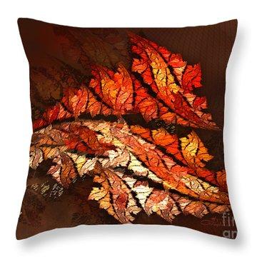 Autumn Wind Throw Pillow by Jutta Maria Pusl