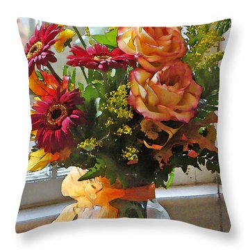 Throw Pillow featuring the photograph Autumn Window by Betsy Zimmerli