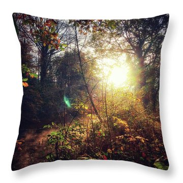 Autumn Woodland Throw Pillow