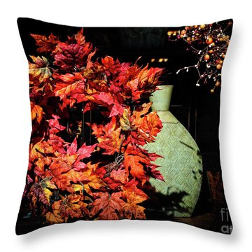 Thanksgiving Wreath Throw Pillow by Charline Xia