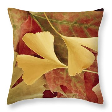 Autumn Yellow Throw Pillow