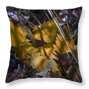 Throw Pillow featuring the digital art Autumn Yellow by Stuart Turnbull