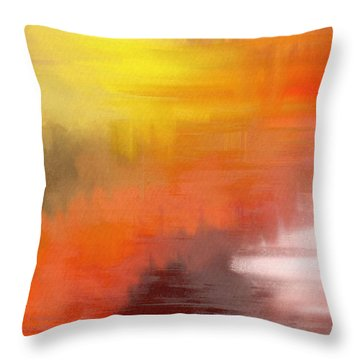 Autumnal Abstract  Throw Pillow