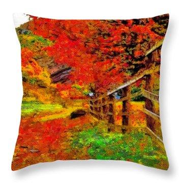 Autumnal Blaze Of Glory Throw Pillow