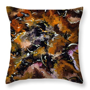 Autumnal Cut Throw Pillow