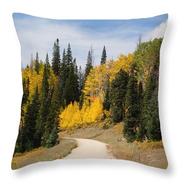 Autumnal Forest-dixie National Forest Utah Throw Pillow by Deborah Moen