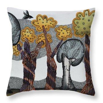 Autumnal Grove  Throw Pillow by Graciela Bello