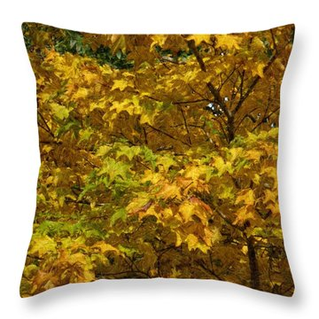 Autumnal Leaves And Trees 2 Throw Pillow