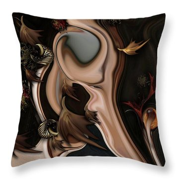 Autumnal Material Throw Pillow