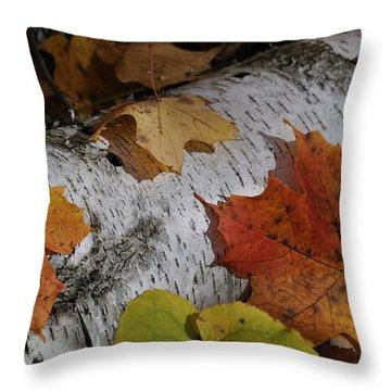 Autumnal Melange Throw Pillow