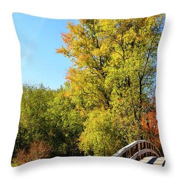 Autumnal North Bridge Throw Pillow