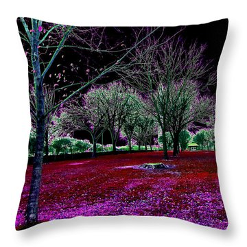 Autumnal Reversography Throw Pillow