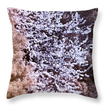 Autumnal Spring In London Throw Pillow by Helga Novelli