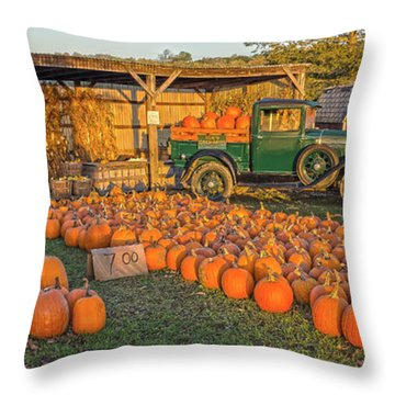 Autumnal Sunrise At Roe's Throw Pillow