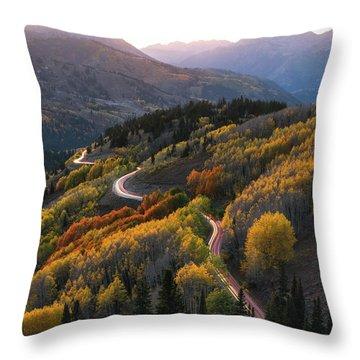 Big Cottonwood Canyon Throw Pillows