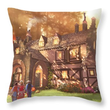 Autumnhollow Throw Pillow