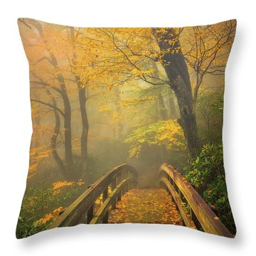 Autumn's Bridge To Heaven Throw Pillow