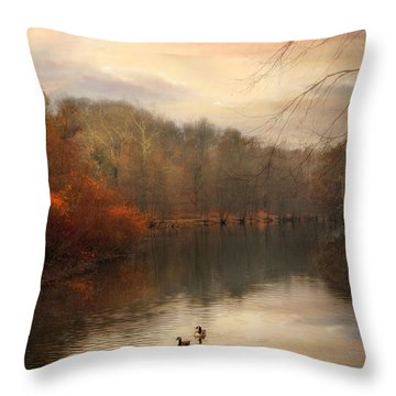 Autumn's Ebb Throw Pillow by Jessica Jenney