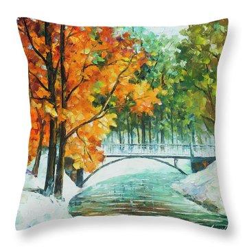 Autumn's End Throw Pillow by Leonid Afremov