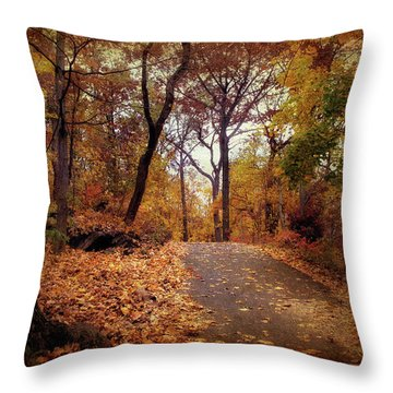 Autumn's Final Act Throw Pillow by Jessica Jenney
