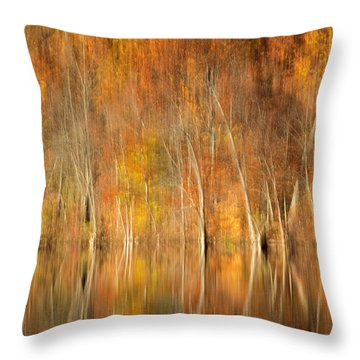 Throw Pillow featuring the photograph Autumns Final Palette by Everet Regal