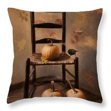Autumn's In The Air Throw Pillow