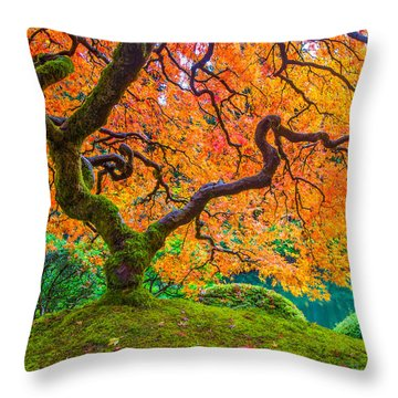 Autumn's Jewel Throw Pillow by Patricia Davidson