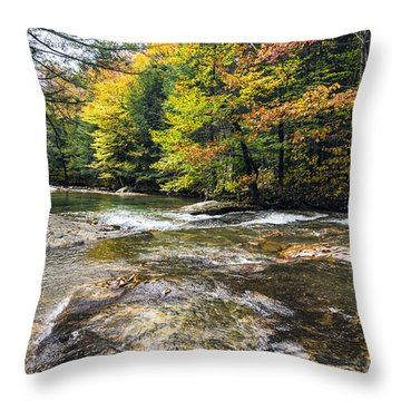 Throw Pillow featuring the photograph Autumns Kiss by Anthony Baatz