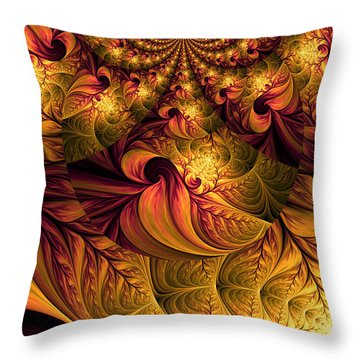 Autumns Winds Throw Pillow