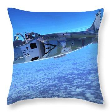 Av-8b Harrier Ll Fighter Jet Throw Pillow