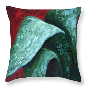 Av Leaves Throw Pillow
