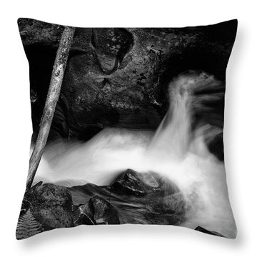 Avalanche Creek Bw Throw Pillow