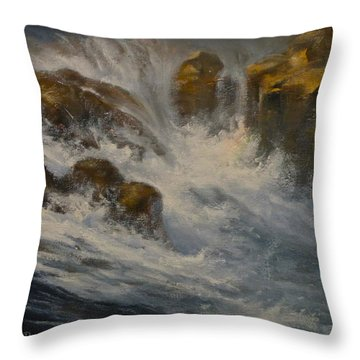 Avalanche Falls Throw Pillow by Mia DeLode