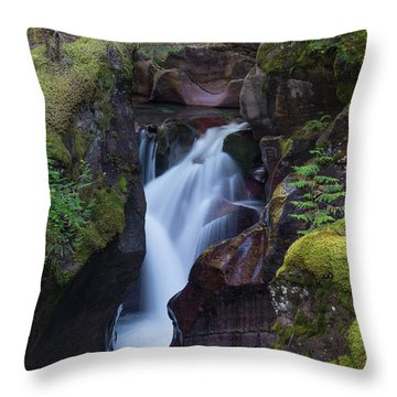 Throw Pillow featuring the photograph Avalanche Gorge 3 by Gary Lengyel