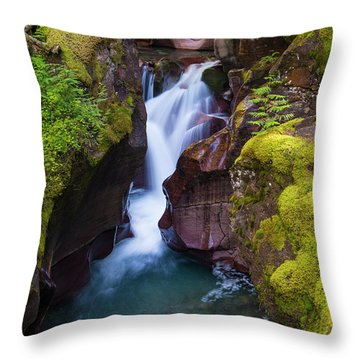 Throw Pillow featuring the photograph Avalanche Gorge 4 by Gary Lengyel
