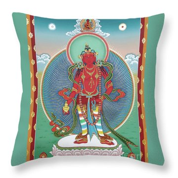 Avalokiteshvara Korwa Tongtrug Throw Pillow