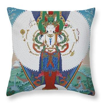 Avalokiteshvara Lord Of Compassion Throw Pillow