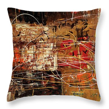 Throw Pillow featuring the painting Avant Garde by Carmen Guedez
